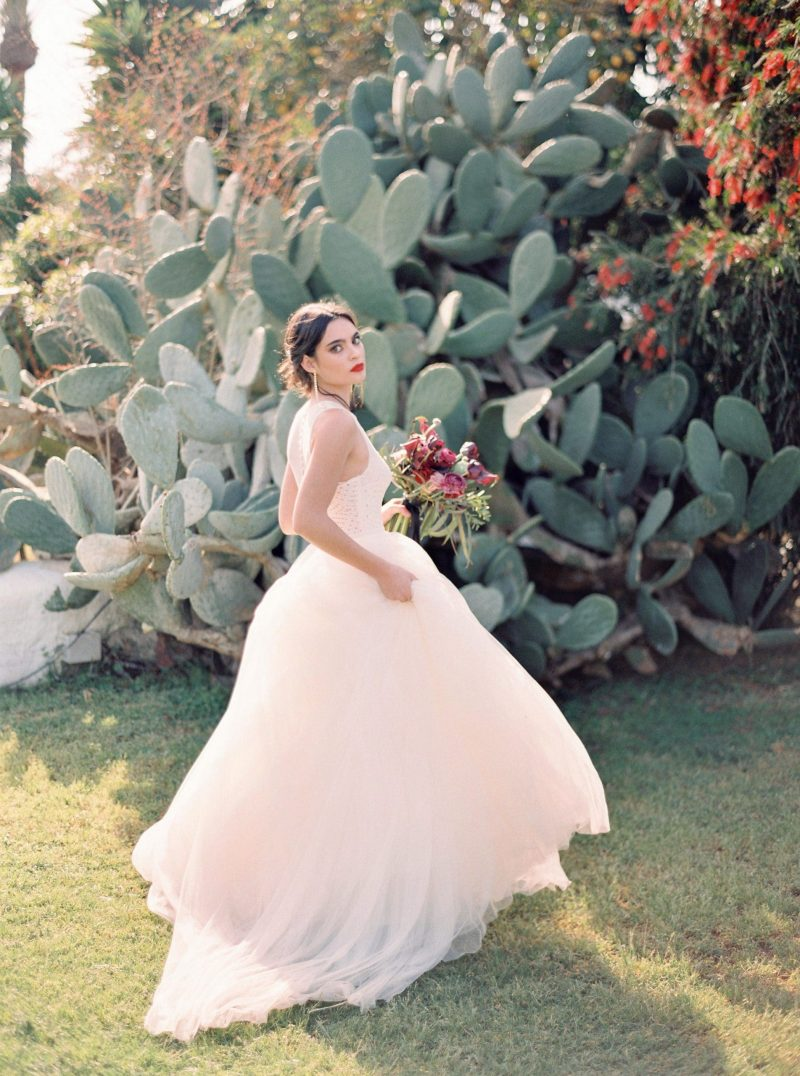 bride in Jesus Peiro wedding gown